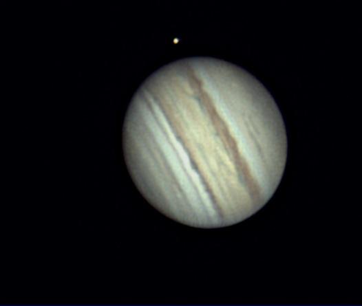 Jupiter et son satellite Io