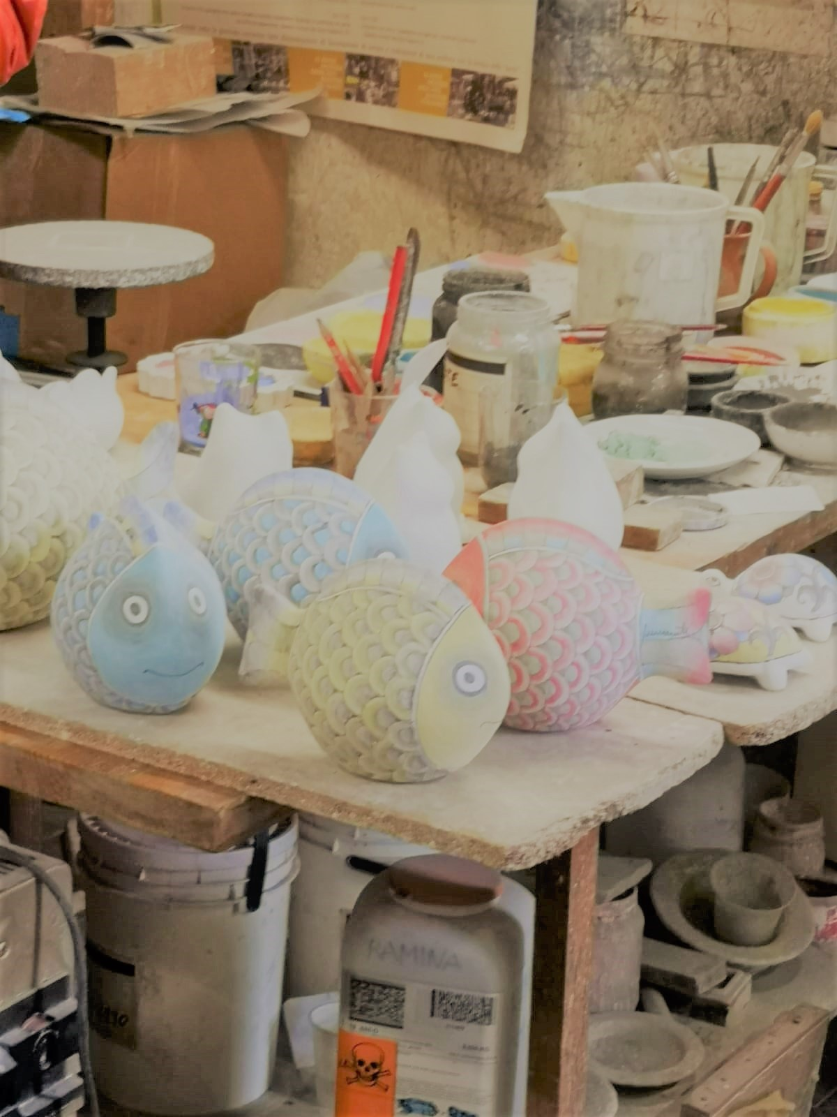 Besichtigung der Keramikwerkstatt