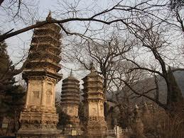 Pagodes bij de Tanzhe Tempel