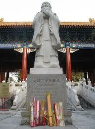 Confucius standbeeld