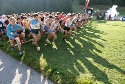 Start mit Böllerkanone, knapp 300 Teilnehmer (Teilnehmerrekord)