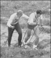 Sieger 1975: Wolfgang Müller, SC Hochvogel München Wolfgang Pichler, SC Ruhpolding 48:08,0