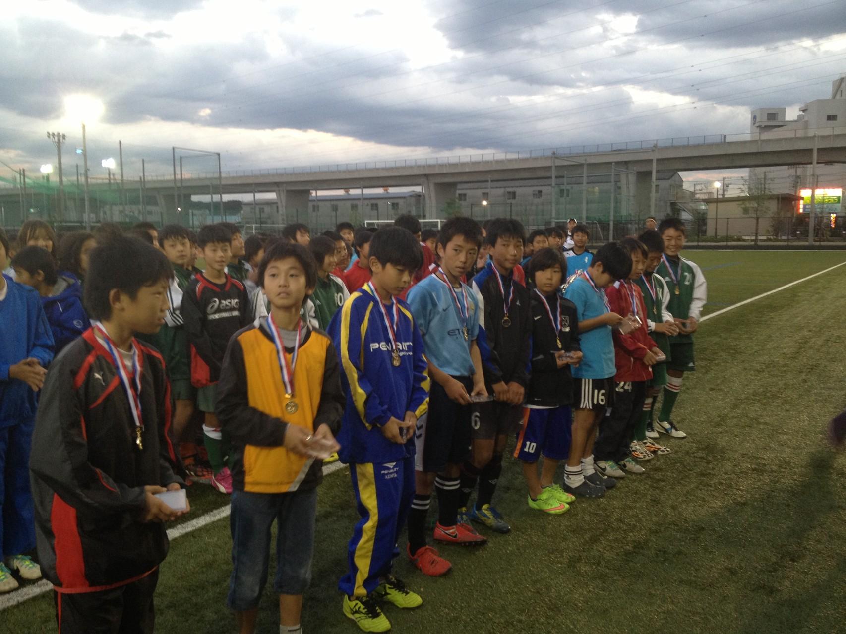J:COM湘南杯 U-12(6年生) 優秀選手賞