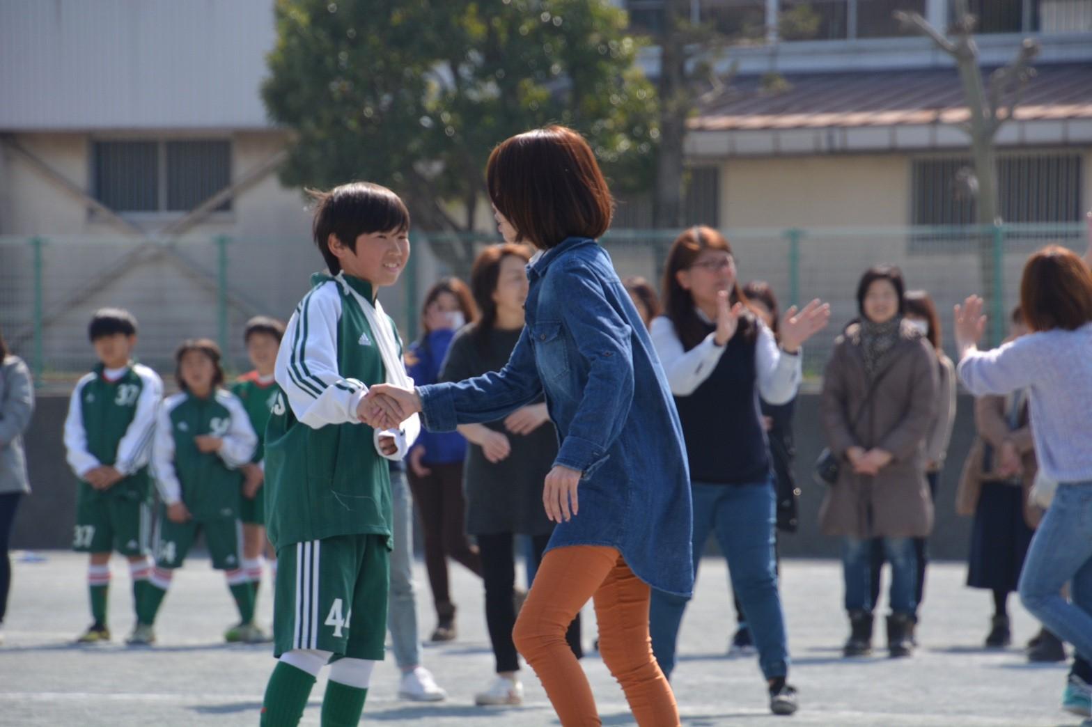 3/5 卒団式 親子PK