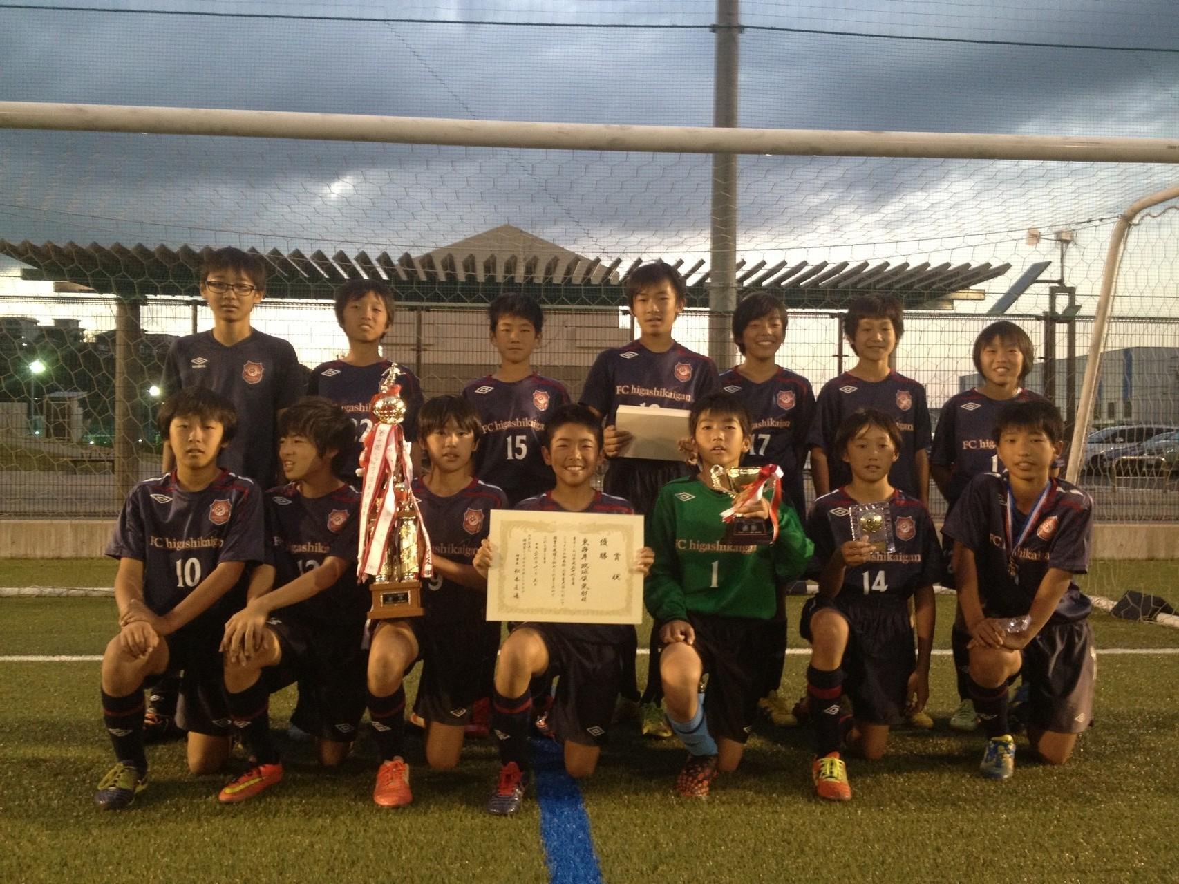 J:COM湘南杯 U-12(6年生) 優勝(東海岸蹴球倶楽部の皆さん)