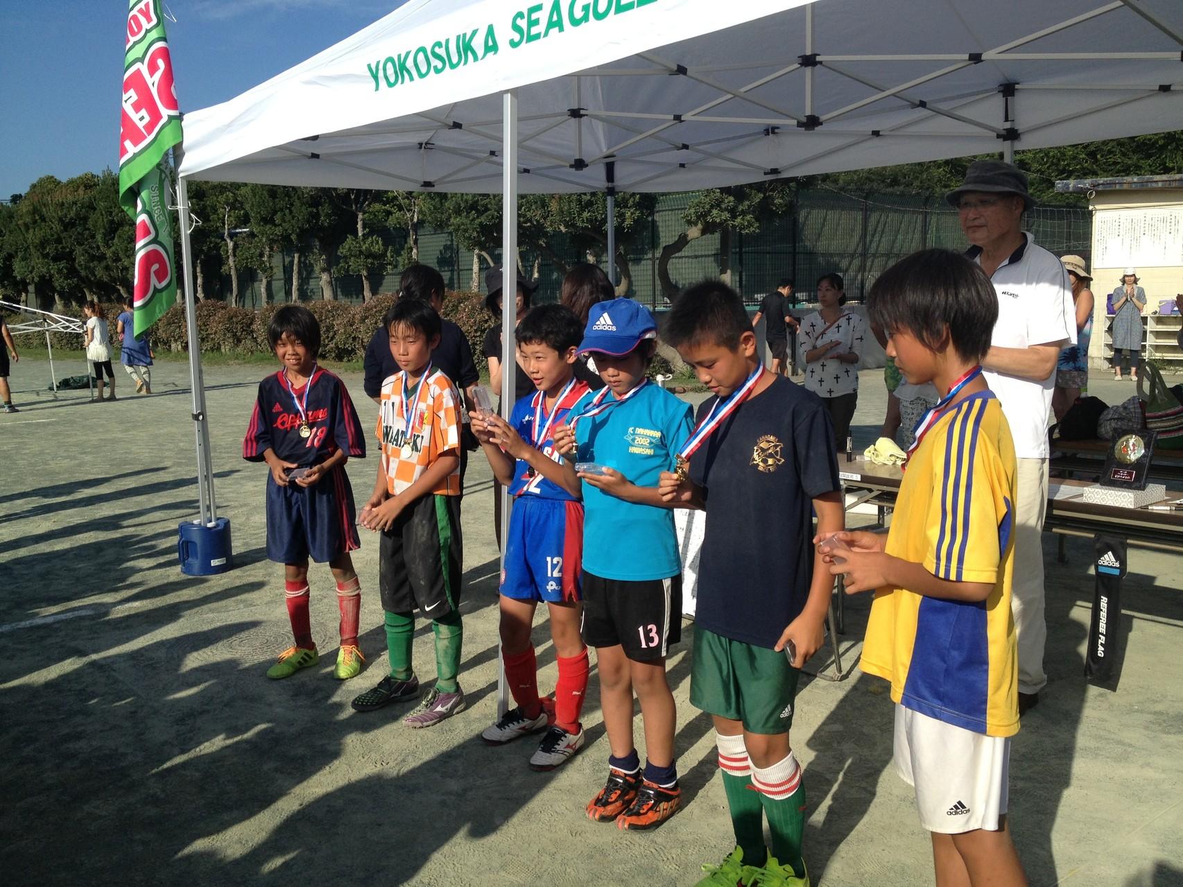 かもめ杯 U-12(6年生) 優秀選手賞