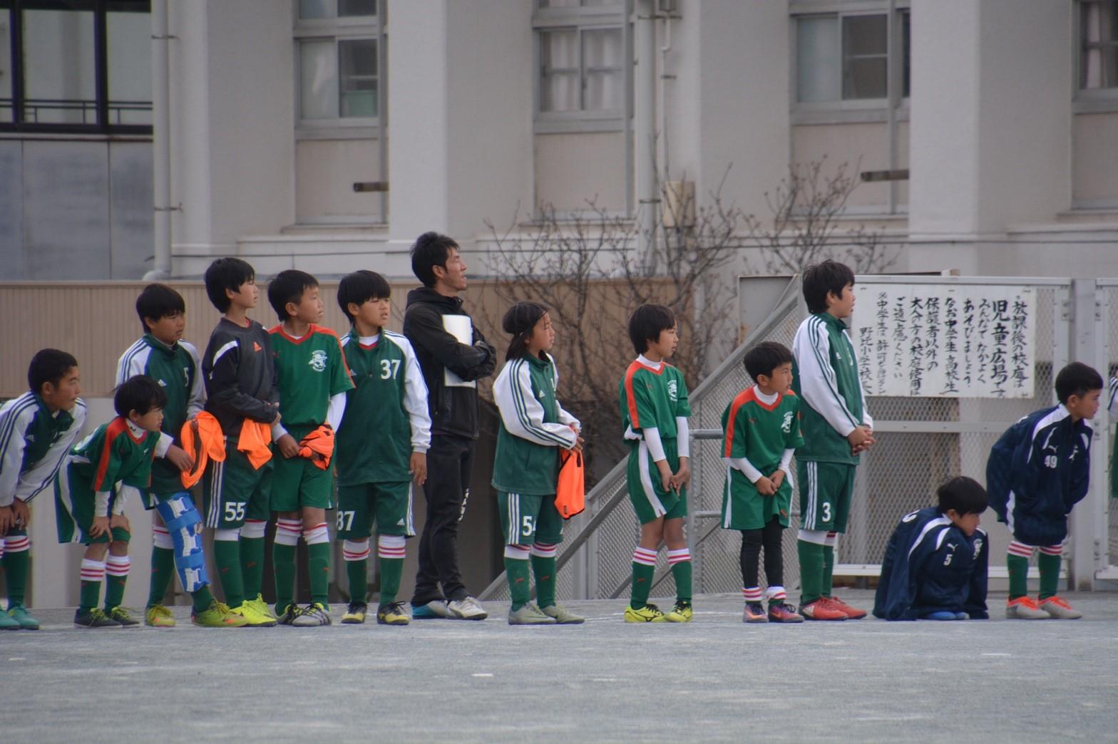3/5 卒団式 卒団生vs6年スタッフ