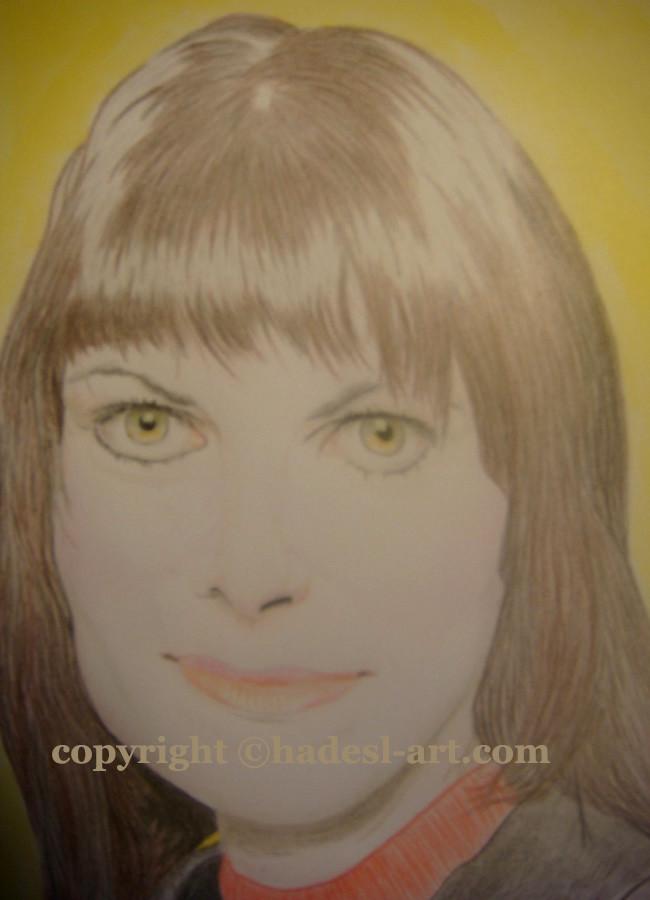 """""""Ein wahres Frauportrait""""...Buntstifte, Copic auf Papier 2010 (30 cm x 42 cm)  verkauft"""