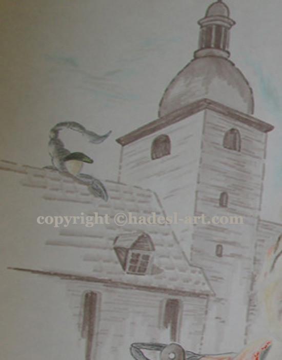 """""""Kreative Menschen""""...Copic u. Buntstifte auf Papier 2011, 42x30 cm"""