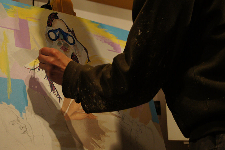 """Intime Aussage""...Acryl auf Leinwand 2012, 70x50 cm"