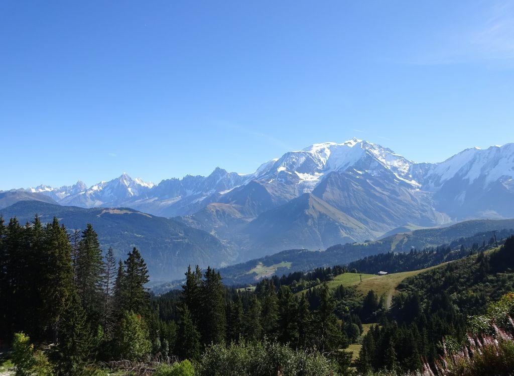 chaine du Mont Blanc vue du Mont d'Arbois (Megève)