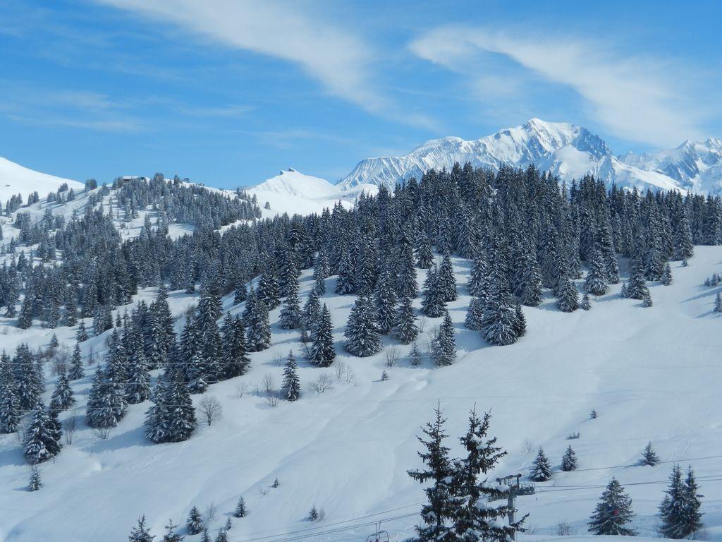 Aiguille Croche et Mont Blanc vus des Saisies