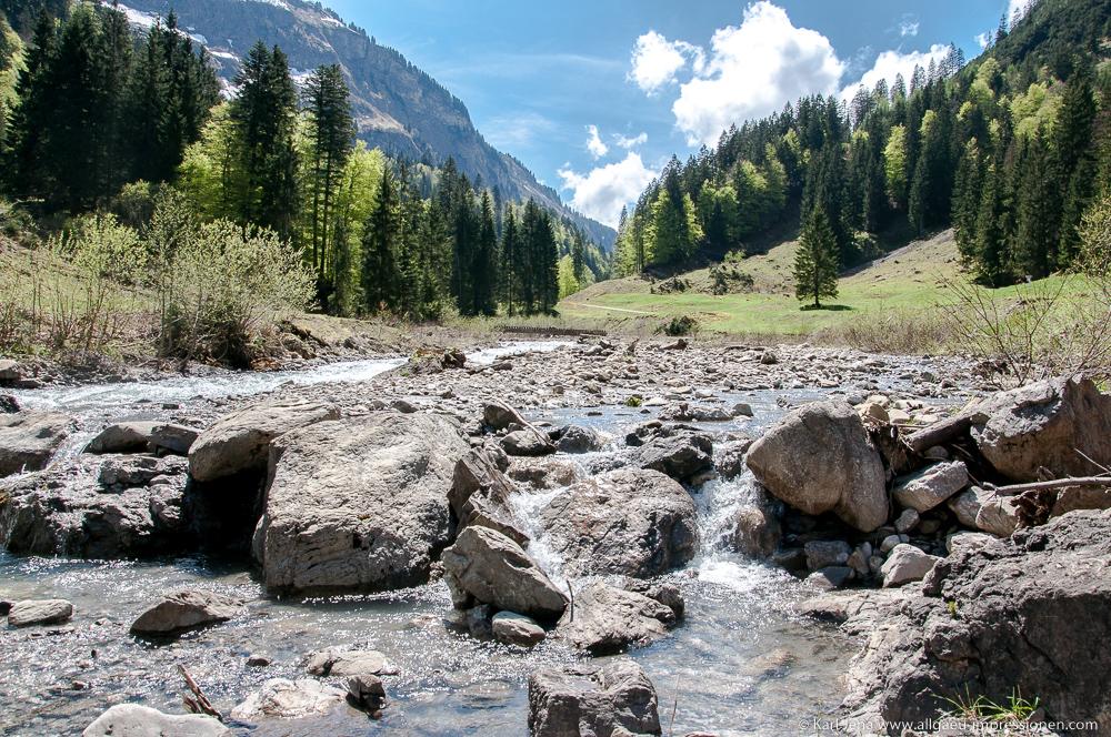 Rappenalpenbach. Nebenfluss der Stillach