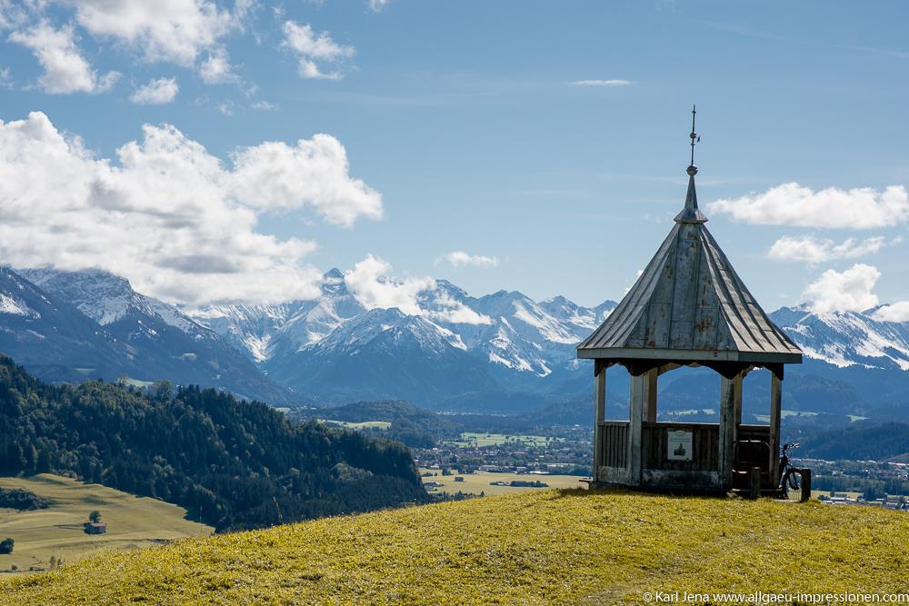 Gebhartshöhe bei Rettenberg mit Allgäuer Alpen