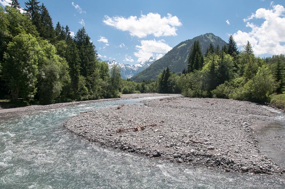 Trettach südlich von Oberstdorf