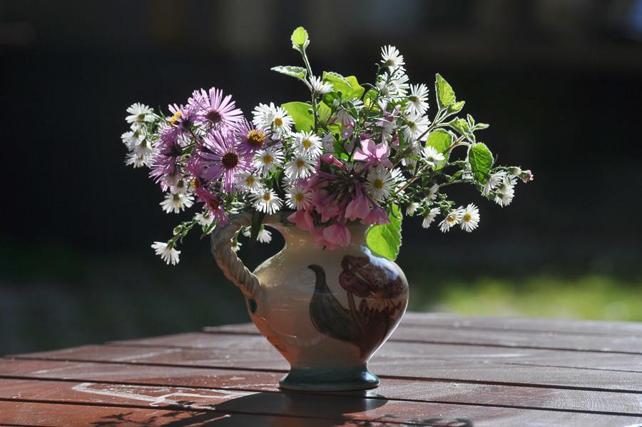 Blumenvase auf Alpe