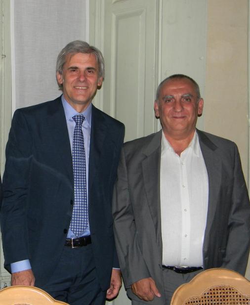 Luciano insieme al Presidente dell'Associazione Italiana Arbitri Marcello Nicchi nel 2011