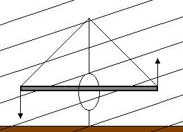 Figura 5.9 - Coppia di forze agenti sull'ago magnetico nel piano verticale