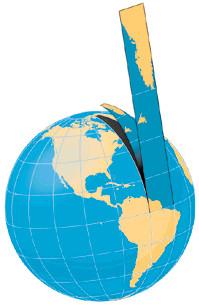 Figura 8.11 - Proiezione di Mercatore