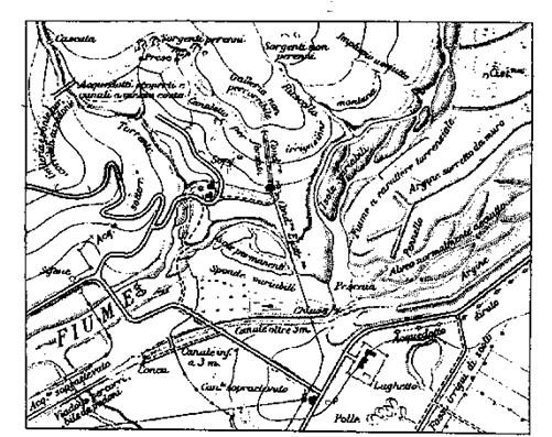 Figura 8.16 - Rappresentazione simbolica dell'orografia continentale adattata alle carte topografiche e corografiche