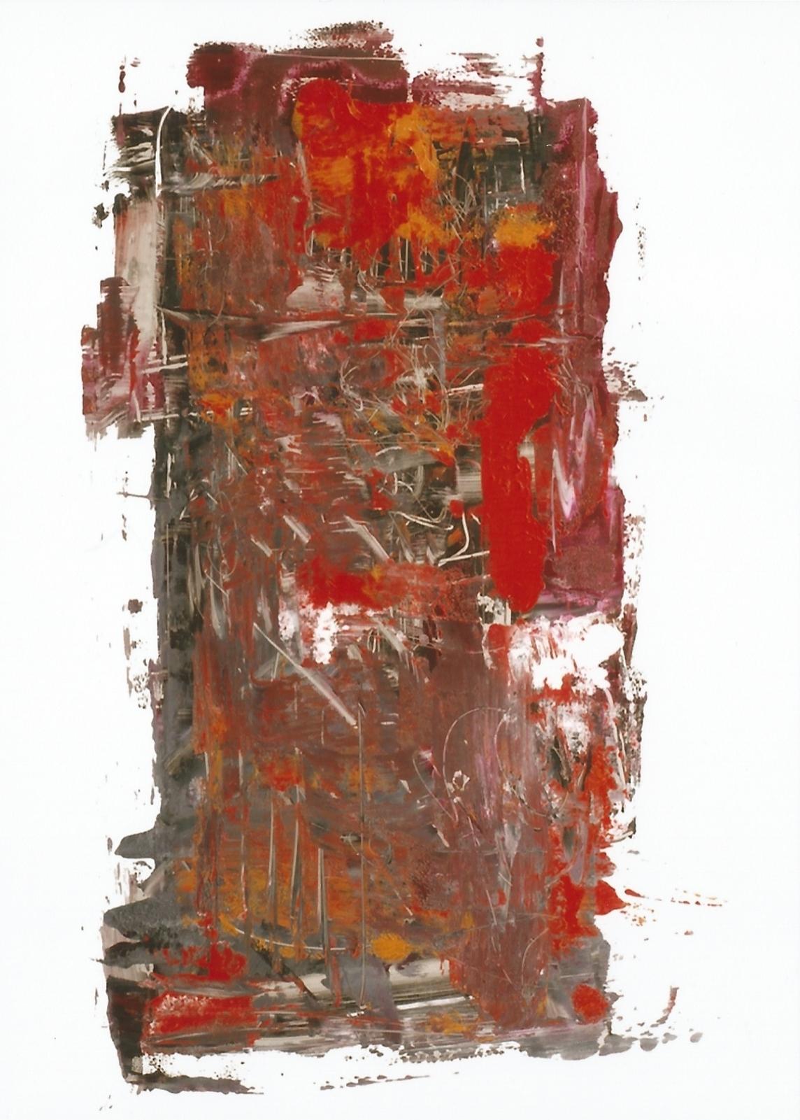 LLUVIA DE RUBI NOCTURNO, 2007 oil on glass, 30 x 30. SOLD