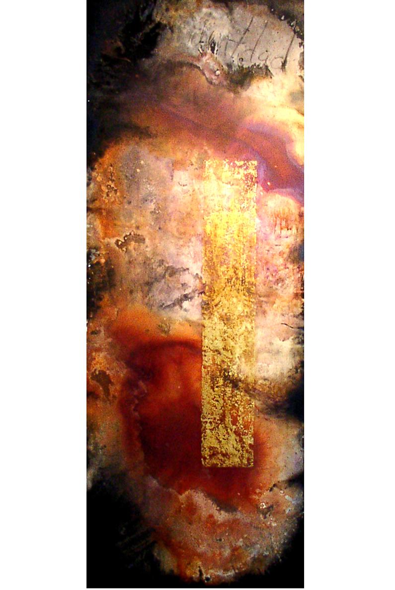 IDENTIDAD, 2005 acrylic & mixt on MDF 184 x 70 cm $2000