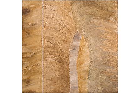 CAMINE Y ME ABRAZO LA TIERRA, 2007 masa-roca on MDF (diptych), 47 x 40. SOLD