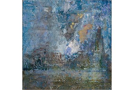 PISO LAS PIEDRAS HUMEDAS EN MEDIO DEL CIELO, 2007 masa-roca on MDF, 8 x 8. Private Collection