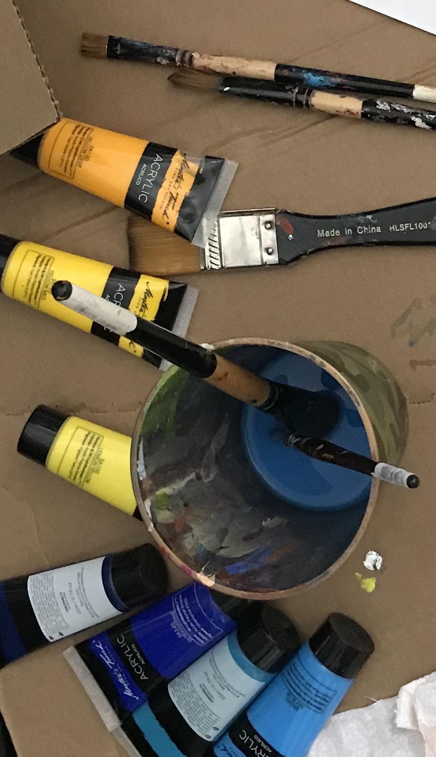 Preparing palette