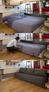 一張有心思的隱形床,可床和梳化二用