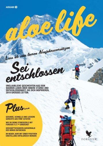 Cover Forever aloe life Magazin Ausgabe 3.