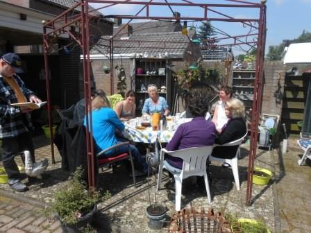 Damenkränzchen in der Holländischen Sonne.