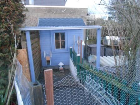 Außenbereich mit Überdach