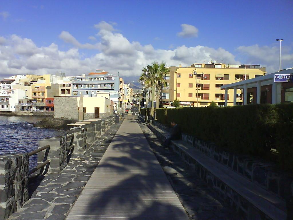 Sicht zum Ortskern von El Medano
