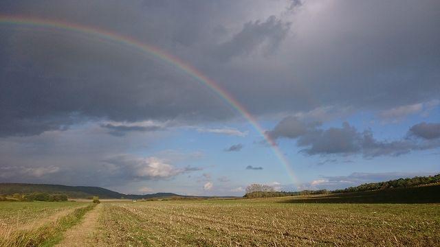 Doppelter Regenbogen, aufgenommen 2017 in meinem Jagdrevier in Dutzenthal.