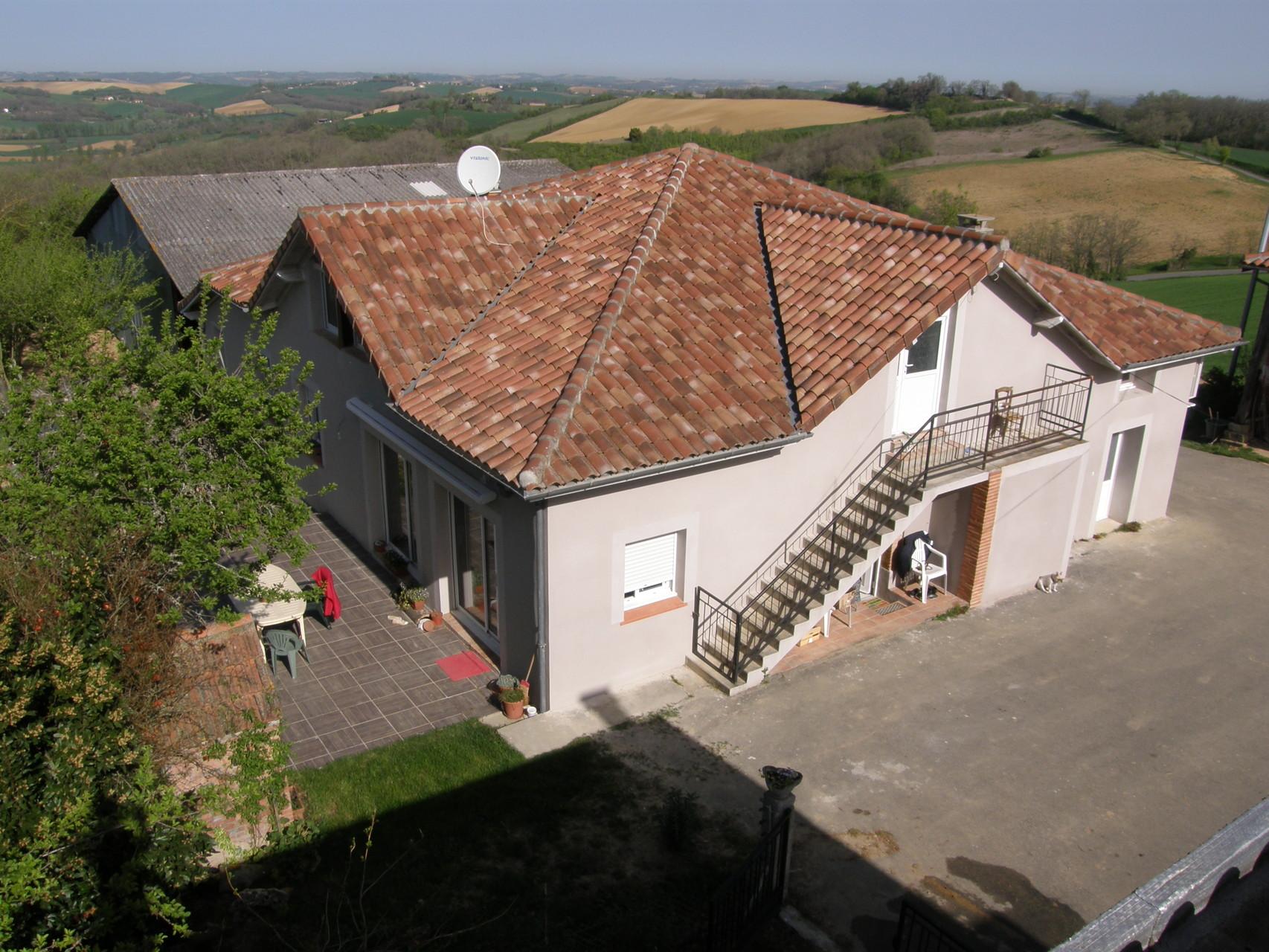 La maison vue d'en haut