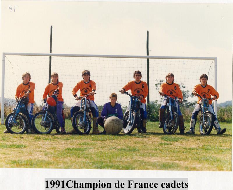 cadets Pont-l'Evêque champion de France 1991