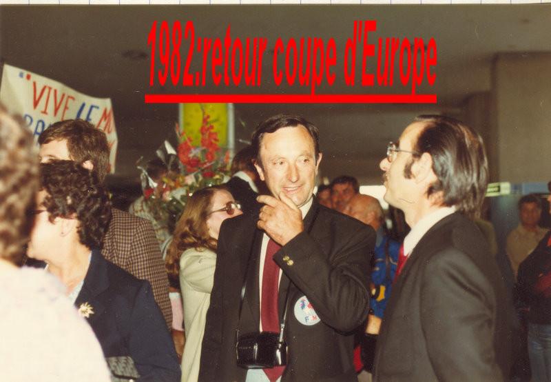 Jean 1982 retour de la coupe d'Europe à Roissy