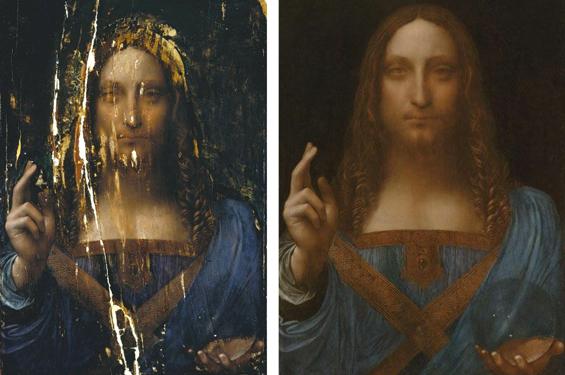 Vorher Nachher: Salvator Mundi © Leonardo da Vinci