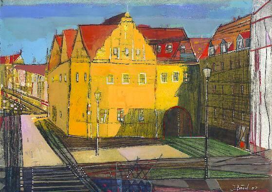 Kleiner Berlin, Radierung, koloriert, 24 x 30 cm