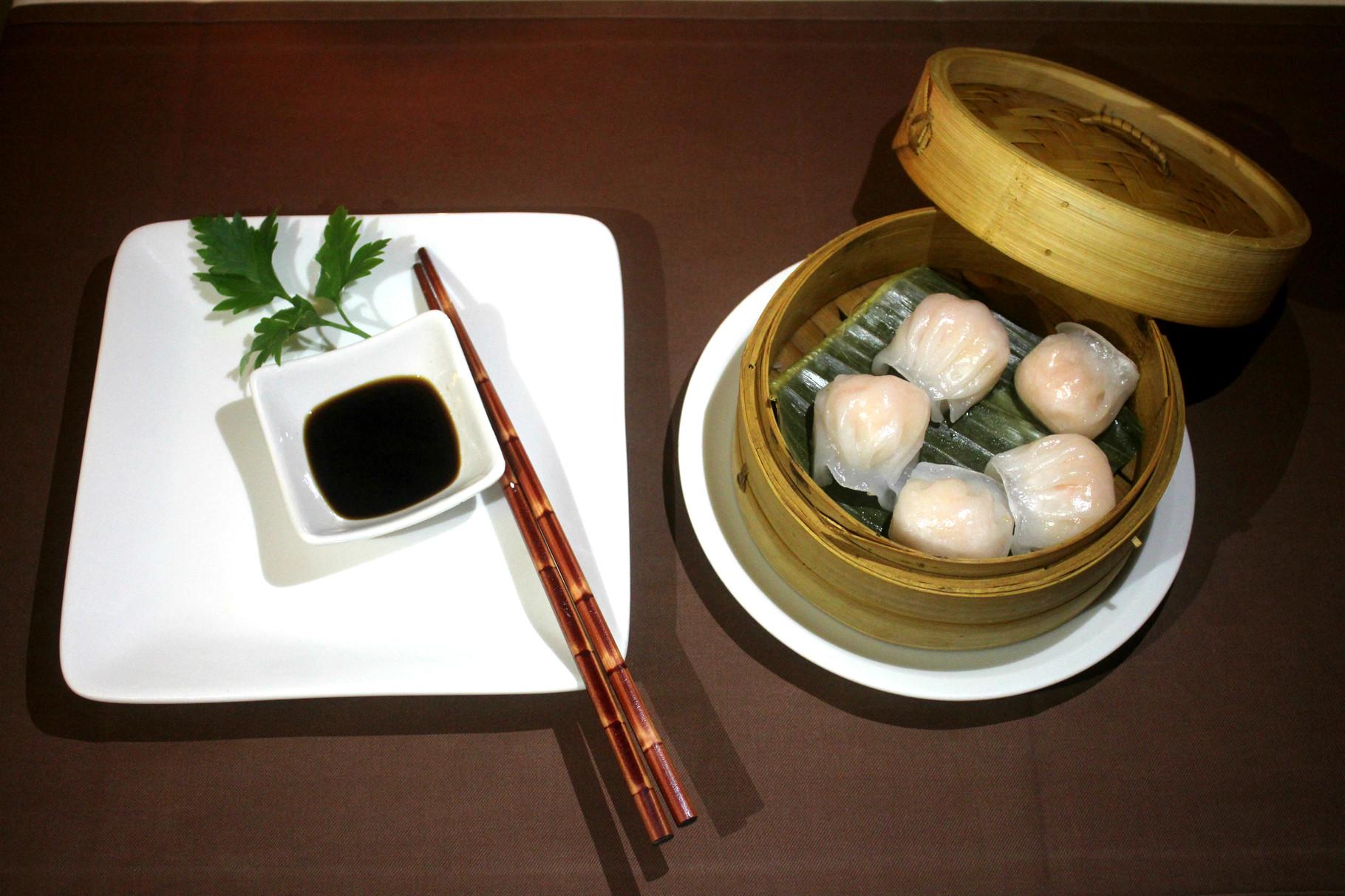 Ha Kao - gedämpfe Dumplings mit Garnelenfüllung