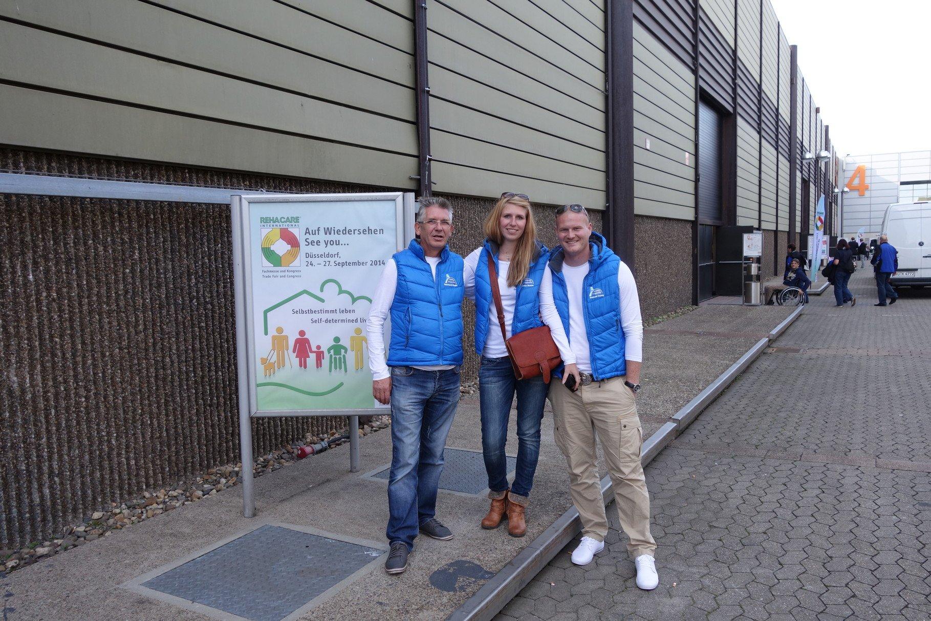 Team Viveco auf der Rehacare Messe in Düsseldorf