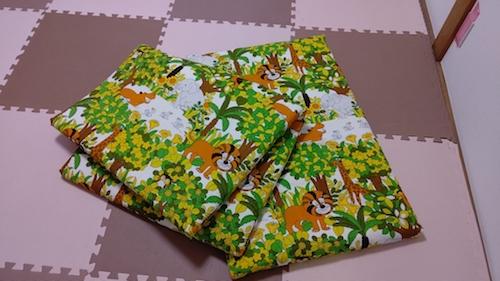 吉元さんの手作り布団カバーも準備万端!
