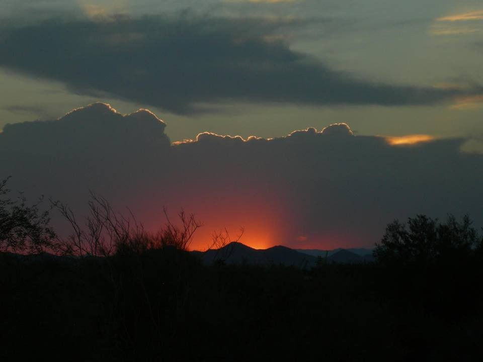 Sunset on Arizona, Cave Creek - photo Leisa-Marie Grgula