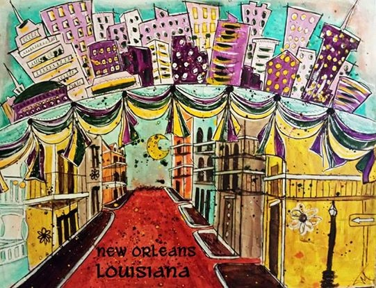 New Orleans, Lousiana - © Copyright artist Tracey Malnofski, Indiana USA
