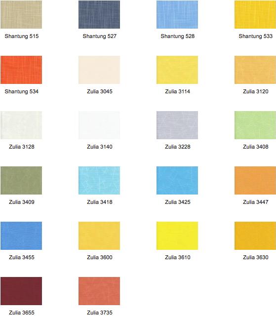 Farbgebung der Vertikaljalousien