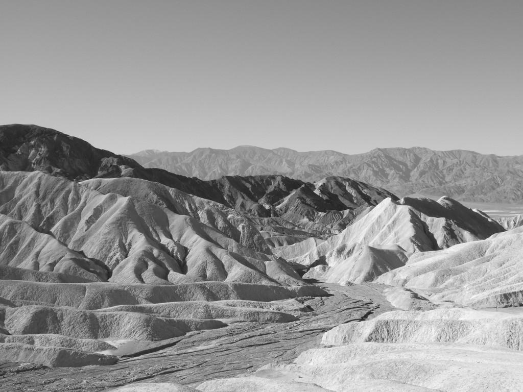 Position des Covershootings unterhalb des Zabriskie Points im Death Valley heute.