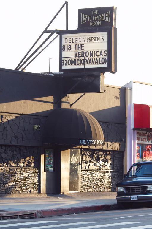 Ein weiterer legendärer Club am Strip: The Viper Room. Vor dem Eingang starb River River Phoenix an Halloween 1993 (Foto: Christian Düringer)