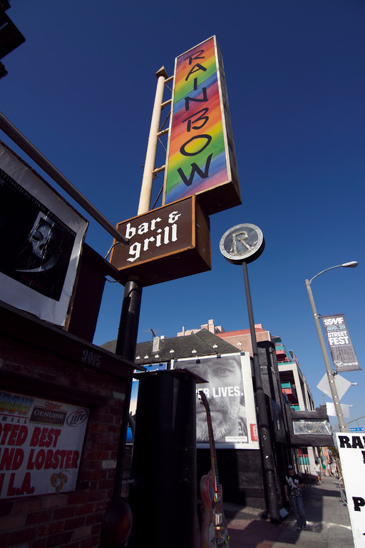 Sunset Strip mit Roxy Theatre und Rainbow Bar & Grill (Foto: Christian Düringer)