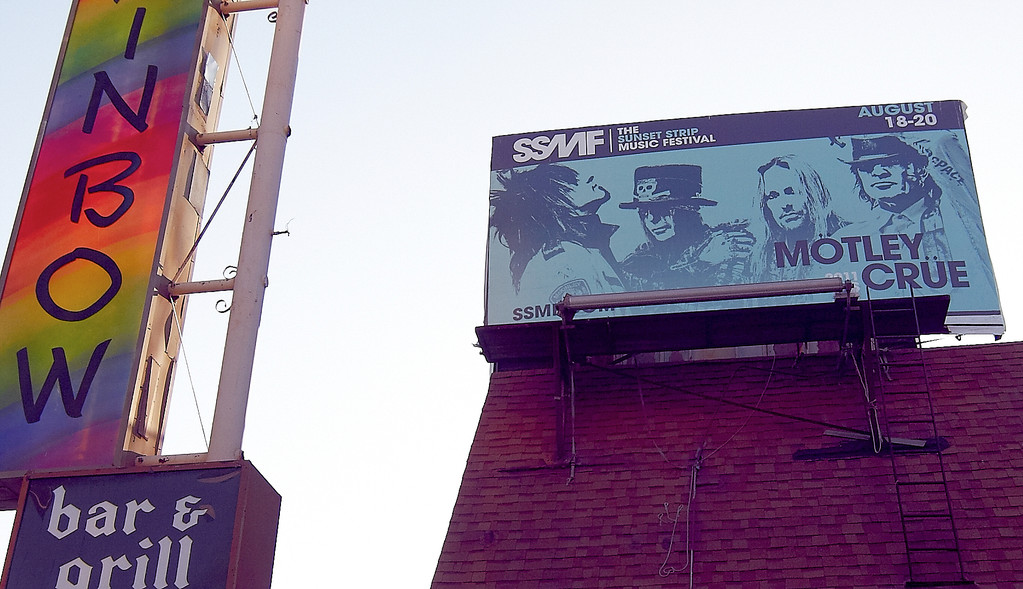 Mötley Crüe sind immer noch präsent: Werbebanner zum Sunset Strip Music Festival 2011 (Foto: Christian Düringer)